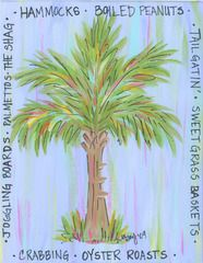 Palmetto Tree print This is from Pluff Mud designs! Fran Graham at Signatures in Marietta is the originator and a girl from Charleston!