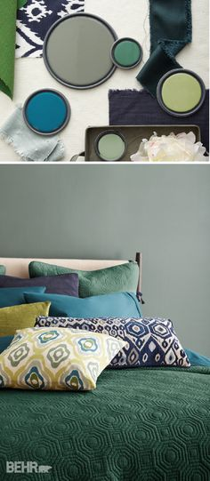 Right Paint Colors When Decorating Your Home The most important element in home decoration is the harmony of things with each other. For color adaptation. Bedroom Wall Colors, Paint Colors For Living Room, Paint Colors For Home, Colors For Bedrooms, Bedroom Decor, Bedroom Art Above Bed, One Bedroom, Behr Colors, Home Interior Design