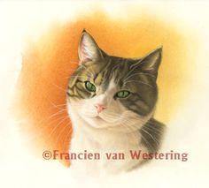 Tekeningen Katten - francien van westering