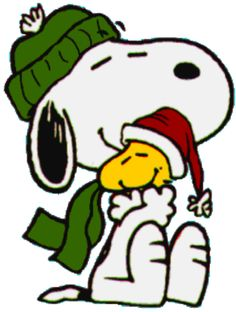 Snoopy & Woodstock...Cute #Peanuts