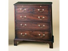Holland & Co - Bachelors Chest - Slide, 2242.  Shown in mahogany. 32W x 18D x 32H