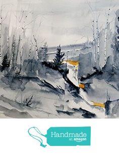 ORIGINAL painting Watercolor painting WATERCOLOR Painting, watercolor landscape, Pinetreeart, WATERCOLOR, landscape original, painting from Maine ARTist https://www.amazon.com/dp/B01I2B9R52/ref=hnd_sw_r_pi_dp_RAJFxbHV8ARBA #handmadeatamazon