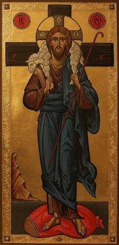 Byzantine Icons, Byzantine Art, Faith Of Our Fathers, Jesus E Maria, The Good Shepherd, Orthodox Icons, Mexican Folk Art, Christian Art, Religious Art