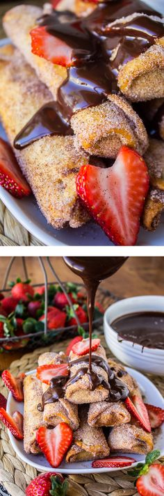 Banana Churros w Chocolate PB Sauce