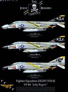 The Jolly Rogers Military Jets, Military Aircraft, Fighter Aircraft, Fighter Jets, Tomcat F14, Photo Avion, Us Navy Aircraft, F4 Phantom, Aircraft Painting
