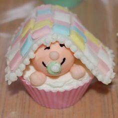 こんなにかわいいカップケーキが出てきたら♡が溶けちゃう!ベビーシャワー用カップケーキ #ベビーシャワー #ベイビーシャワー
