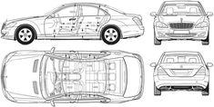 2006 Mercedes-Benz S Sedan blueprint