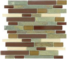 Flicker Tile  Random Bricks, Random Bricks, Maroon, Glossy, Frosted & Unpolished, Brown, Glass and Slate