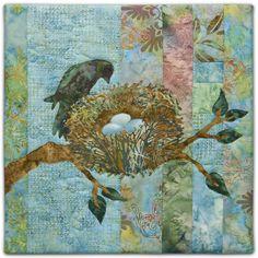 quilt bird pattern   ... Ryan Pine Needles Promise Bird Nest Block 5 Quilt Pattern   eBay