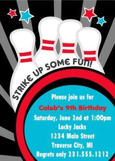 retro bowling party invitations di 257fc custom invitations and