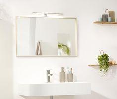 Zrkadlové svietidlo s LED Floating Shelves, Vanity, Bathroom, Home Decor, Ideas, Products, Mirrors, Light Fixtures, Dressing Tables