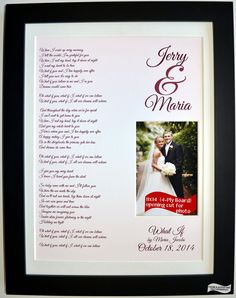 1st First Anniversary Paper Gift for Husband and Wife by Picmats