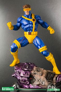 Marvel X-Men Danger Room Sessions: Cyclops [Statue] by Kotobukiya Jim Lee, Marvel Dc Comics, Marvel Heroes, Marvel Room, 3d Figures, Action Figures, Wolverine, Marvel Cyclops, Marvel Statues