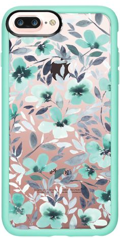 Casetify Protective iPhone 7 Plus Case and iPhone 7 Cases. Other Pattern iPhone Covers - Espirit Mint Clear by Jacqueline Maldonado | Casetify