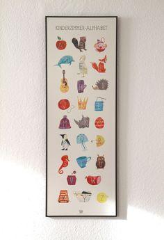 ABC Poster für das Kinderzimmer, Schulanfang / artprint alphabet, school, letters by Katrinas Kartensalon via DaWanda.com
