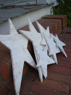 Ready To Ship Primitive Stars Farmhouse Christmas Decor Cottage Chic Memorial…