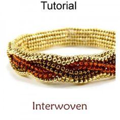 Beaded Herringbone Bracelet Beading Pattern Tutorial