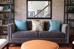 Lovely gray sofa!