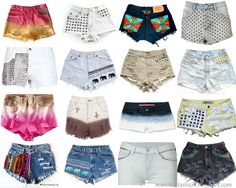 SEARCH IN FASHION :: DIY, fashion blog ::: The greatest DIY shorts collection