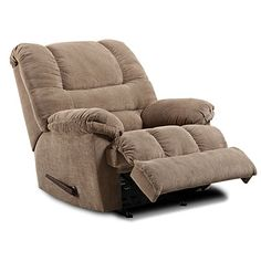 Stratolounger Tailgater Bronson Rocker Recliner With Heat