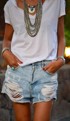 Pull & Bear Silver And Gold Topaze Detail Layered Chain Necklace