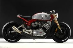 One off tires from Dunlop… '82 Yamaha Virago 750 by Greg Hageman & Erick Runyon.