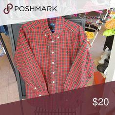 Ralph Lauren button down shirt Button down shirt Green ,Red & Yellow  plaid Ralph Lauren Shirts & Tops Button Down Shirts
