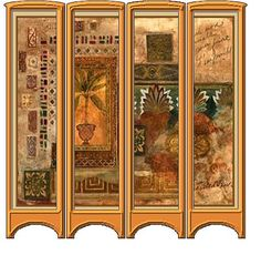 make a folding screen. if outside porch, use old shutters and shellac. Beach? use whitewash and sand lightly.
