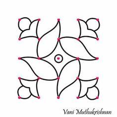 Ideas for longarm quilting ideas simple beautiful Rangoli Patterns, Rangoli Kolam Designs, Rangoli Ideas, Rangoli Designs With Dots, Kolam Rangoli, Rangoli With Dots, Simple Rangoli, Indian Rangoli, Rangoli Designs Latest