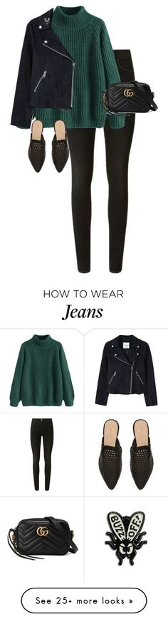 """""""Untitled #13701"""" by alexsrogers on Polyvore featuring J Brand, MANGO, Witchery and Gucci #kendalljenneroutfits"""