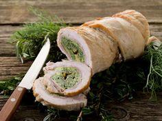 Soczyste mięsa na świąteczny stół Fresh Rolls, Sushi, Food And Drink, Ethnic Recipes, Queso, Website, Stuffed Pork Loins, Rice, Chicken