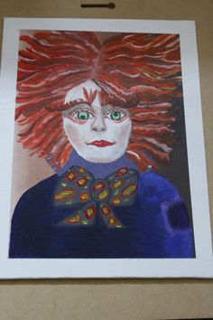 """Acrylic Painting, entitled, """"The Hatter"""", inspired by Johnny Depp's character in Tim Burton's Alice in Wonderland, painted by Red Fairy"""