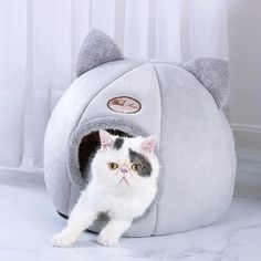 Pet Dog Cat Tent House Kennel Winter Warm Nest Soft Foldable Sleeping Pad Animal Puppy Cave Sleeping Mat Nest Kennel Pet SupplyProduct information: Name: winter warm dog kennel cat yurt small and medium pet cage, pet nest A nest of. Cool Cats, Cheap Cat Beds, Pet Shop Online, Cat Tent, Cat Cave, Cat Dog, Cat Sleeping, Cat Supplies, Grand Theft Auto
