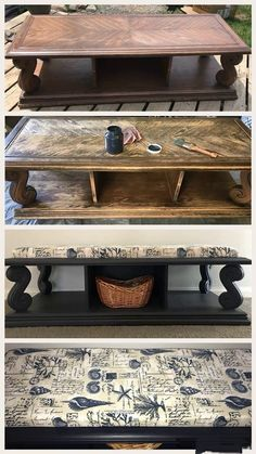 Midnight Blue Bench Magic - There's so much to love about this project I'm about to introduce. The color, the idea, the method, the finished product! Blue Painted Furniture, Paint Furniture, Furniture Makeover, Natural Home Decor, Diy Home Decor, Before And After Diy, Easy Diy Projects, Design Projects, Repurposed Furniture