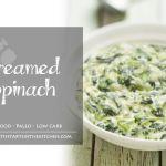 Coconut Milk Creamed Spinach