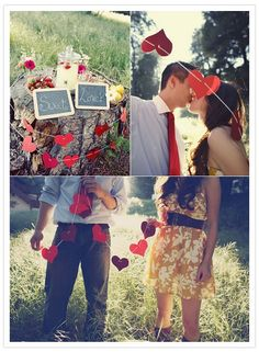 Beautiful engagement photoshoot idea. Romantic couple photography set up idea. Good prop