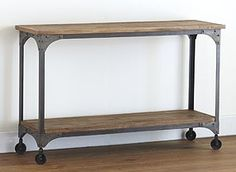 Aiden Console Table from World Market I'd use this as a buffet-type table in a dining room... paired with Jackson Rectangle Table from WM too of course. $280