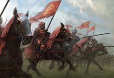 ArtStation - Knights of Casterly Rock, Stefan Kopinski Fantasy Battle, Fantasy Armor, Medieval Art, Medieval Fantasy, Fantasy Character Design, Character Art, Game Of Thrones Artwork, Casterly Rock, Knight Art