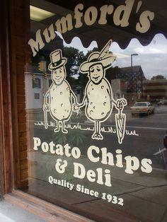 Mumfords Potato Chips Deli - Best sandwich deli in Ohio! Urbana, OH. Urbana Ohio, West Liberty, National Road, Springfield Ohio, Mumford, Romantic Getaways, Potato Chips, Places To Eat, Vacation Spots