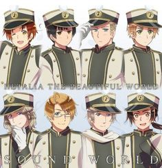 Hetalia Axis and Allies! They all look smokin in uniforms~ <3 <==== Oh my gosh!! That's so funny..... But, I couldn't agree more!