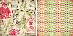 Christmas Scrapbook Paper, Tie Clip, Noel, Tie Pin