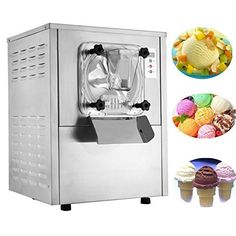 Happybuy Hard Ice Cream Machine Food Grade 304 Stainless Steel Ice Cream Machine Commercial Ice Cream Maker Great for Recreation Center Churches and Camps Ice Cream Maker Reviews, Best Ice Cream Maker, Electric Ice Cream Maker, Commercial Ice Cream Machine, Ice Cream Maker Machine, Dream Ice Cream, Love Ice Cream, Cute Bakery, Specialty Appliances