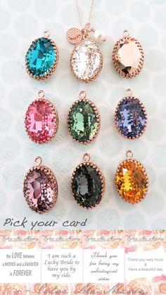 Rose Gold FILLED Swarovski Clear Oval Crystal Necklace, blush pink wedding  bridal earrings, bridal ffa761bdacd6