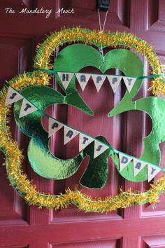 The Mandatory Mooch: St. Patrick's Day Wreath