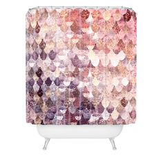 Monika Strigel LILY ROSE MERMAID Shower Curtain   DENY Designs Home Accessories