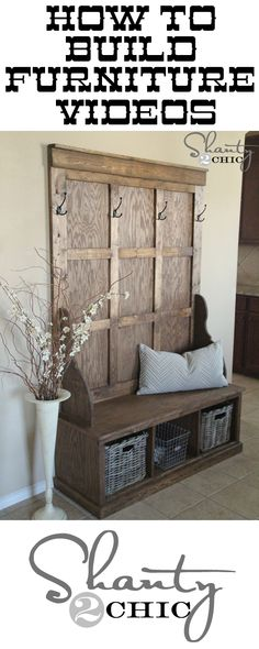 How to build DIY furniture  [ Barndoorhardware.com ] #DIY #hardware #slidingdoor