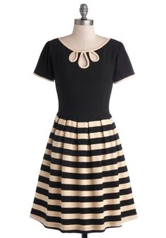 1930s style dress in stripes - Twirl Next Door Dress from ModCloth  http://www.vintagedancer.com/1930s/1930s-plus-size-dresses/