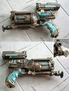Nerf gun converted into a steampunk gun