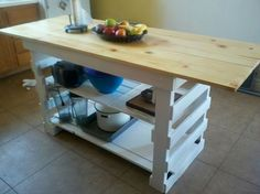 Kitchen Island Out Of Pallets a bar or kitchen island made out of pallets   muebles   pinterest