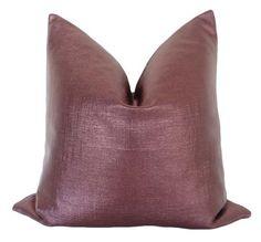 Custom-made metallic purple pillow cover. Pillow insert not included. Purple Pillow Covers, Purple Pillows, Advanced Aesthetics, Green Velvet Pillow, East Hampton, Little Designs, Printed Denim, Blue Hydrangea, Perfect Pillow